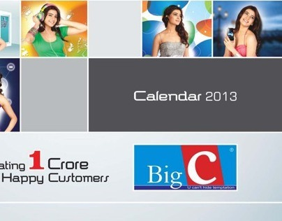 Big C Table Top Calendar 2013