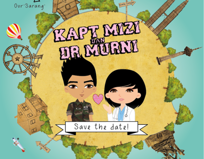 Wedding Invitation for Dr Murni & Kapt Miziie