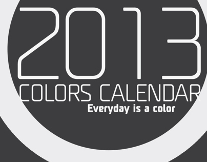 2013 Calendar, everyday is a color