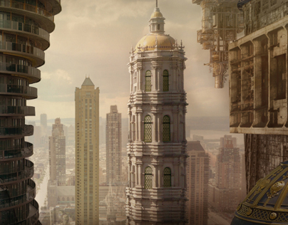 Matte paintings (Steampunk Moscow)