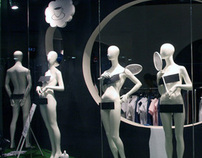 EGO multibrand store window display