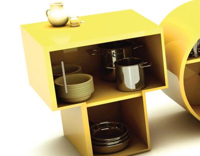 3D Design (Typographic kitchen2)
