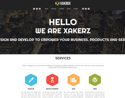 XakBoX Responsive Website