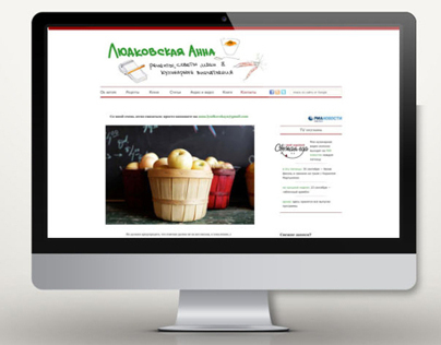 Design for food blog website