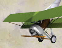 Avioneta 3D . 3D Light Aircraft