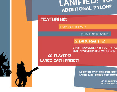 Lanified! LAN party posters