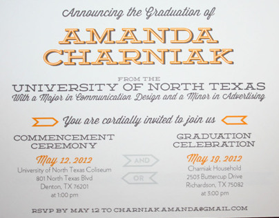 Graduation Announcement & Invitation