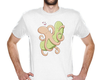 T Shirt Design - Octopus & Pickle