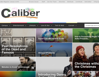 Blogger for Caliber Magazine