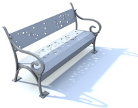 METAL PETAL BENCH - urban furniture design / 2010