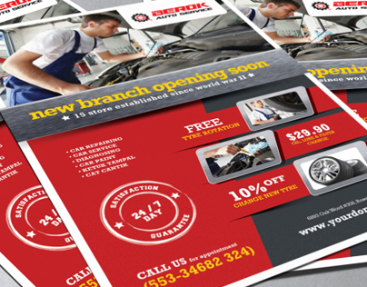 Berok Auto Services PSD Flyer FREEBIES