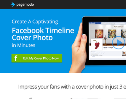 Cover Photo Designer Landing Page