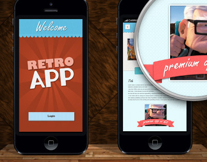 Retro App UI Kit