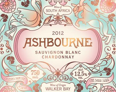 Ashbourne Wine Label