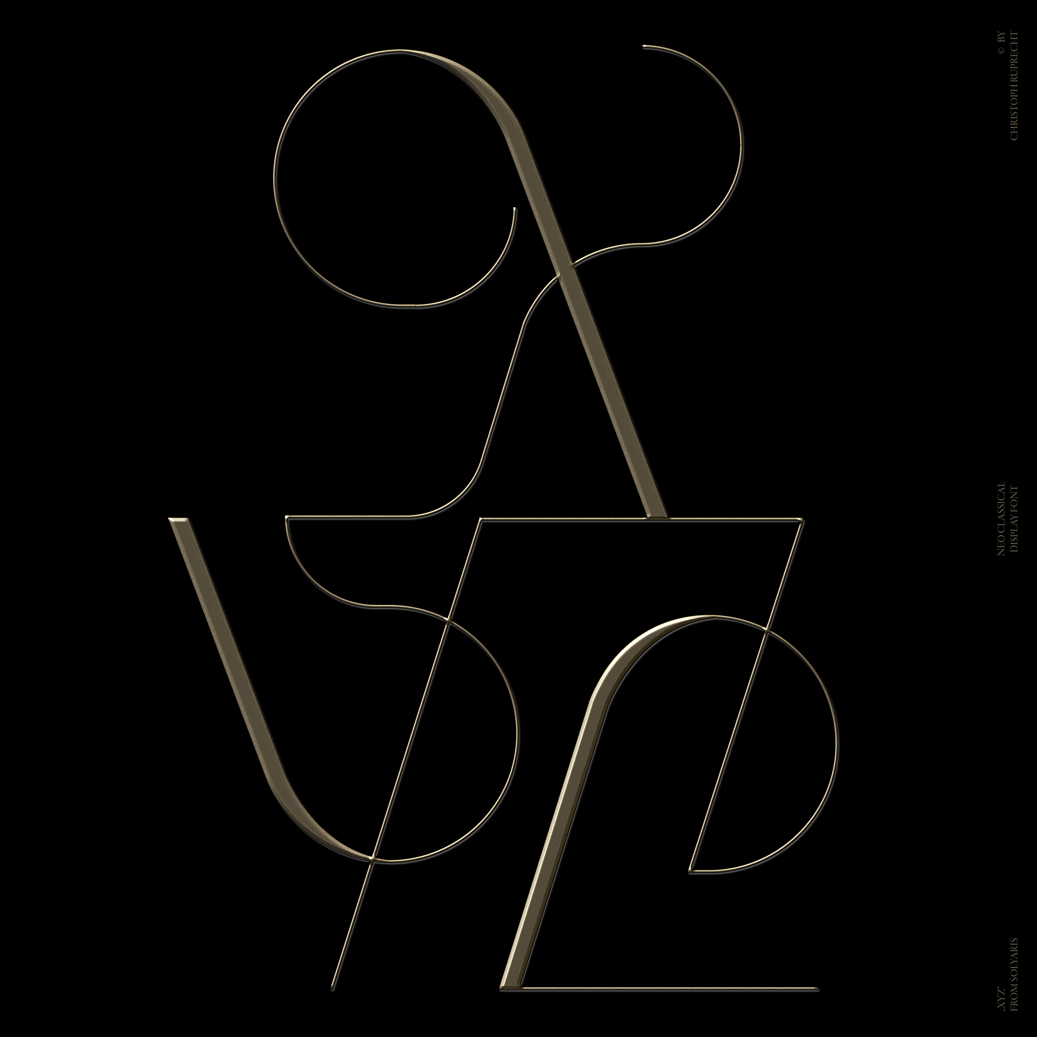 Solyaris :  Decorative Typeface