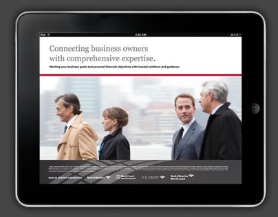 Bank of America iBook Digital Brochure