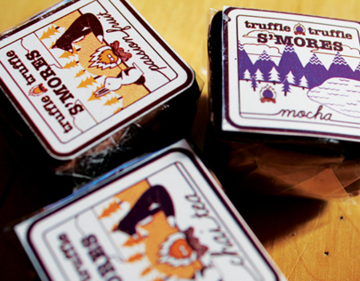 Truffle Truffle Smores: Label Design/Illustrations