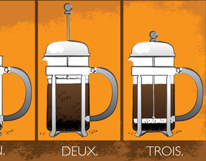 French Press (Illustration for Blog)
