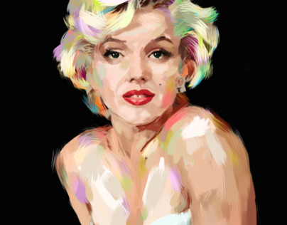 Digital painting - Marilyn Monroe.