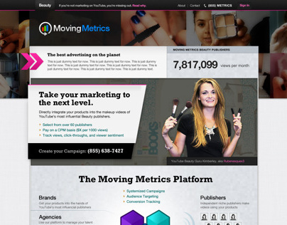 Moving Metrics Designs