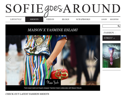 Sofie Goes Around website