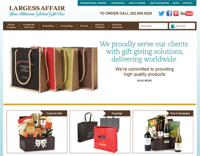 Website design for online shopping site