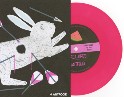 Antfood / 7 inch record sleeve