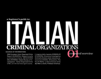 Italian Criminal Organizations - compared overview