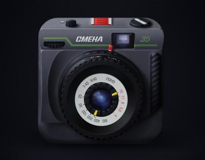 Smena-35 film camera App Icon