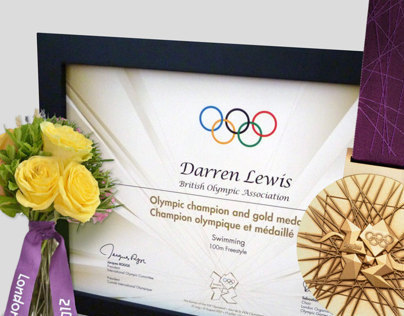 London 2012 Official Athletes Victory Diplomas
