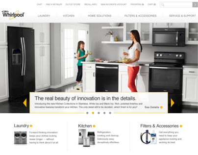 Whirlpool Website Redesign