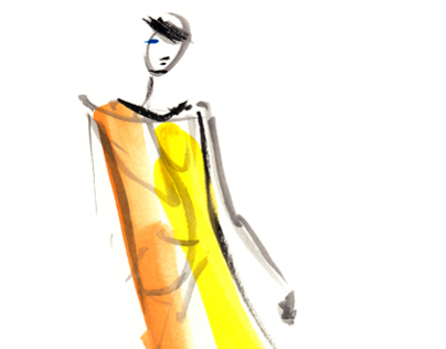 Live Runway Sketches from London Fashion Week SS13