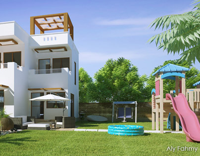 Villa in Egpt (Facade & Landcape Design & Presentation)