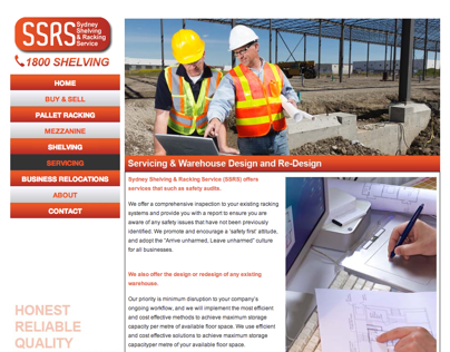 Sydney Shelving & Racking Service (SSRS) Website