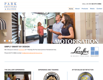 Park Shutters and Blinds Website