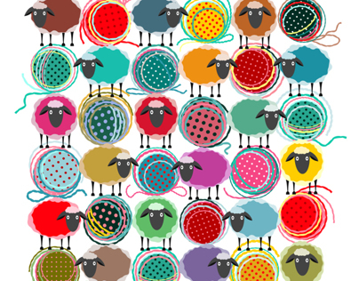 Sheep and Yarn