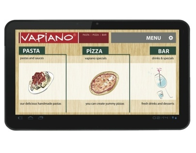 VAPIANO - tablet menu interface