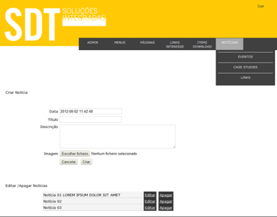 SDT Website - Backoffice