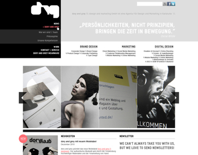 Web design for dory and grey GmbH