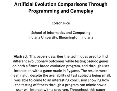 Evolution through computing