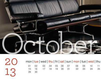 Herman Miller Calendar Cover and two spreads