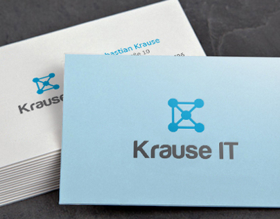 Logo and business card design for Krause IT