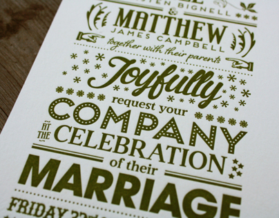 Bree & Matthew Wedding Invite
