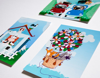 Happy Cards Series - Illustration Postcards