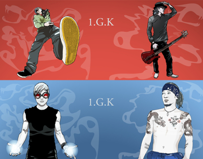 1.G.K band illustrations