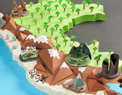 Map of Perú - Papercraft