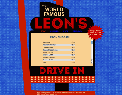 Leons Custard Website
