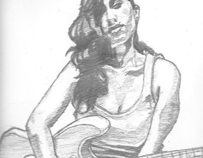 Pencil Sketch: Amy Winehouse