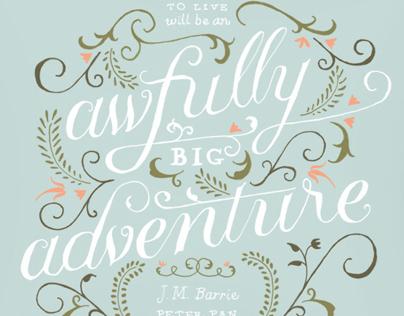 Inspirational Typographic Illustrations