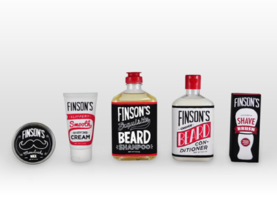 Finsons Beard Care Packaging